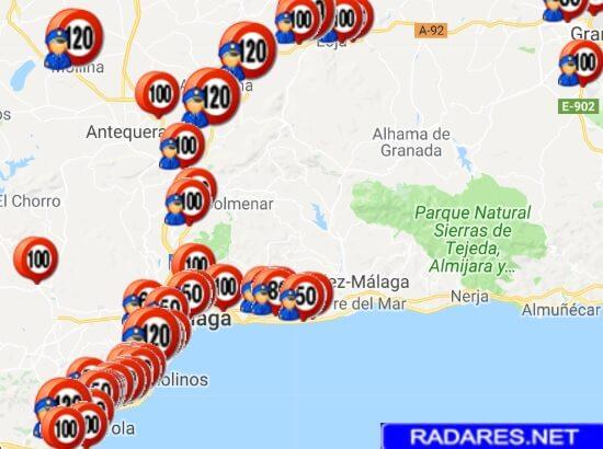 Todos los radares de la DGT, provincia a provincia