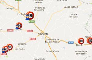 Listado y mapa de radares en Albacete